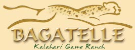 Bagatelle Kalahari Game Ranch Namibia logo