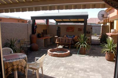 Bush Babies Swakopmund: braai area of executive flat