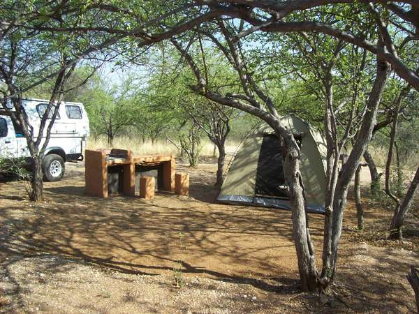 Camp Setenghi Outjo, Namibia: camp site