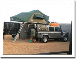 Cape Cross Lodge Camp Site at Cape Cross, Namibia