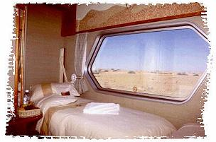 Desert Express Namibia compartment