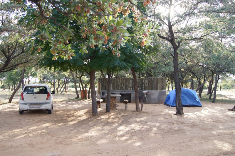 Harnas Wildlife Foundation Namibia: camping