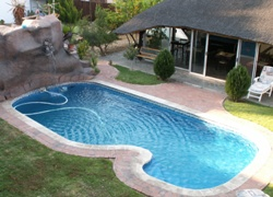 Kubata Lodge Windhoek Namibia pool