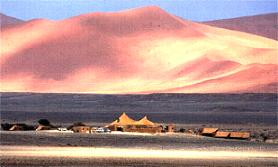 View of Kulala Lodge Namibia