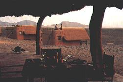 View from patio of Kulala Lodge Namibia