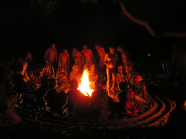 Bushmen's night dance