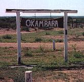 Okambara Game Ranch Namibia entrance sign