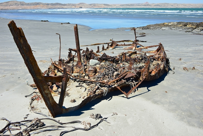 Irmgard wreck, Grosse Bucht, Luderitz, Namibia