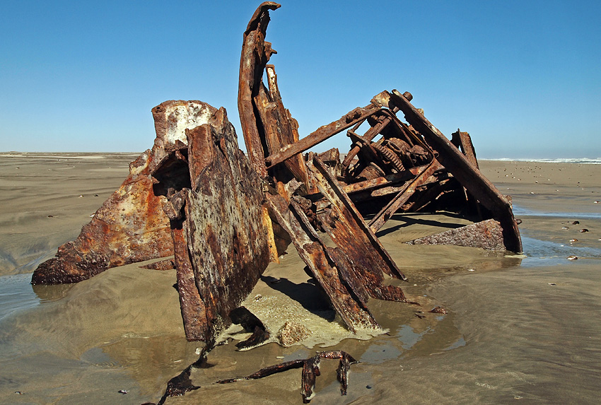 Winston wreck, south of Ugab River Mouth, Namibia
