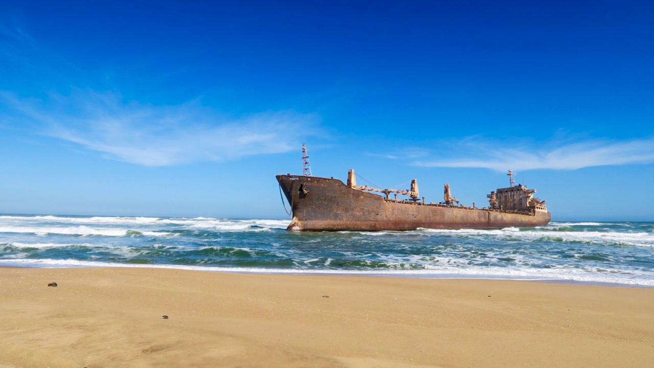 Frotamerica shipwreck, Atlantic West Coast, Namibia